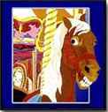 Carousel Art: James Homer Brown: Carousel Horse Art Prints and Greeting Cards