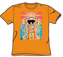 Jimi Hendrix Tshirt - Bold As Love - Orange