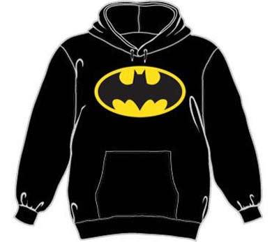 Batman Hooded Sweatshirt - Classic Logo - Black