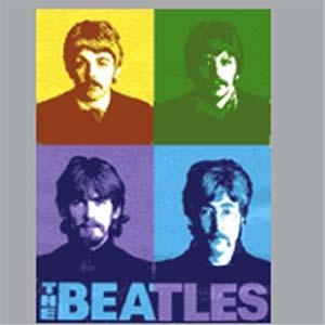 Beatles - Color Blocks Tshrt - Heather Grey