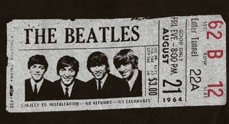 Beatles Tshirt - 1964 Concert - Black