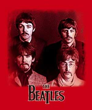 Crimson Red - Fab Four - Beatles Tshirt