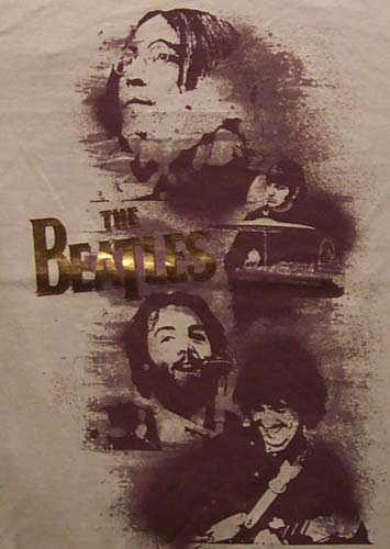 Beatles Metallic Letters Tshirt