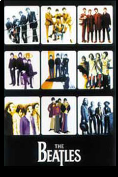 Beatles Anthology Picture Poster - Nine Different Pictures of the Beatles