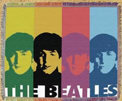 Beatles Warhol Style Woven Throw