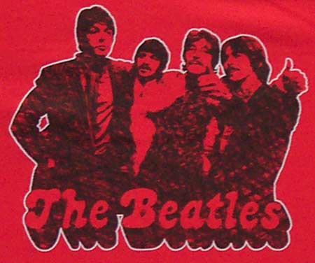 Beatles - Red Tshirt- Size Small