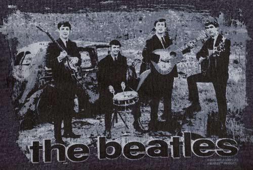 Beatles Vintage Car Tshirt - Blue