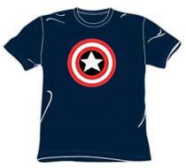 Classic Logo Captain America Tshirt - Navy Blue