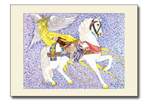 Angelic Treasure - Carousel Horse Art Print