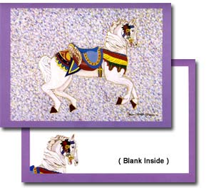 Artsy Carousel Horse Note Cards