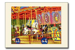 The First Ride - Carousel Horse Art Print