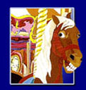 Beautiful Carousel Horse Art Prints by James Homer Brown