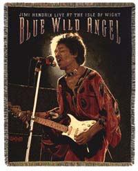 Jimi Hendrix Throw - Wild Blue Angel - Cotton
