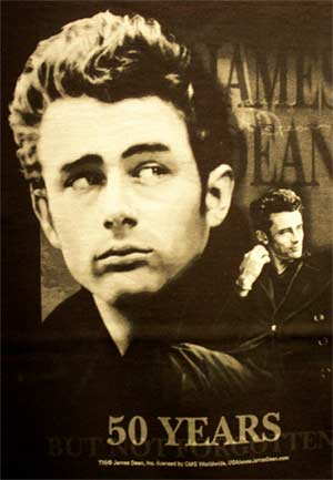 Vintage James Dean Tshirt - 50th Anniverary - Black