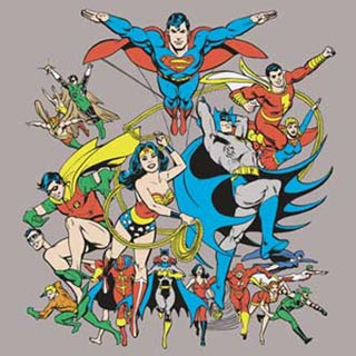 Justice League - Full Cast of Characters - Tshirt