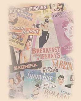 Audrey hepburn movie posters collage