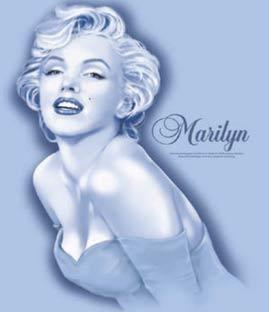 Marilyn Monroe Tee shirt: New Blue Dress - Adult Sizes to 2XL