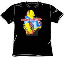Simpsons Tshirt - Comic Book Guy - Black