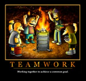 Funny Simpsons T Shirt Motivational Poster Parody Satire Tee Teamwork